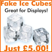 fake ice cubes