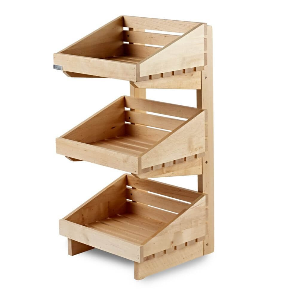 3 Tier Wooden Counter-Top Stand - Product Displays