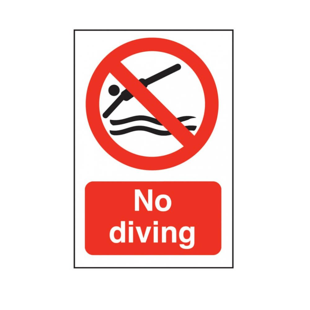 No Diving Swimming Pool Safety Notice