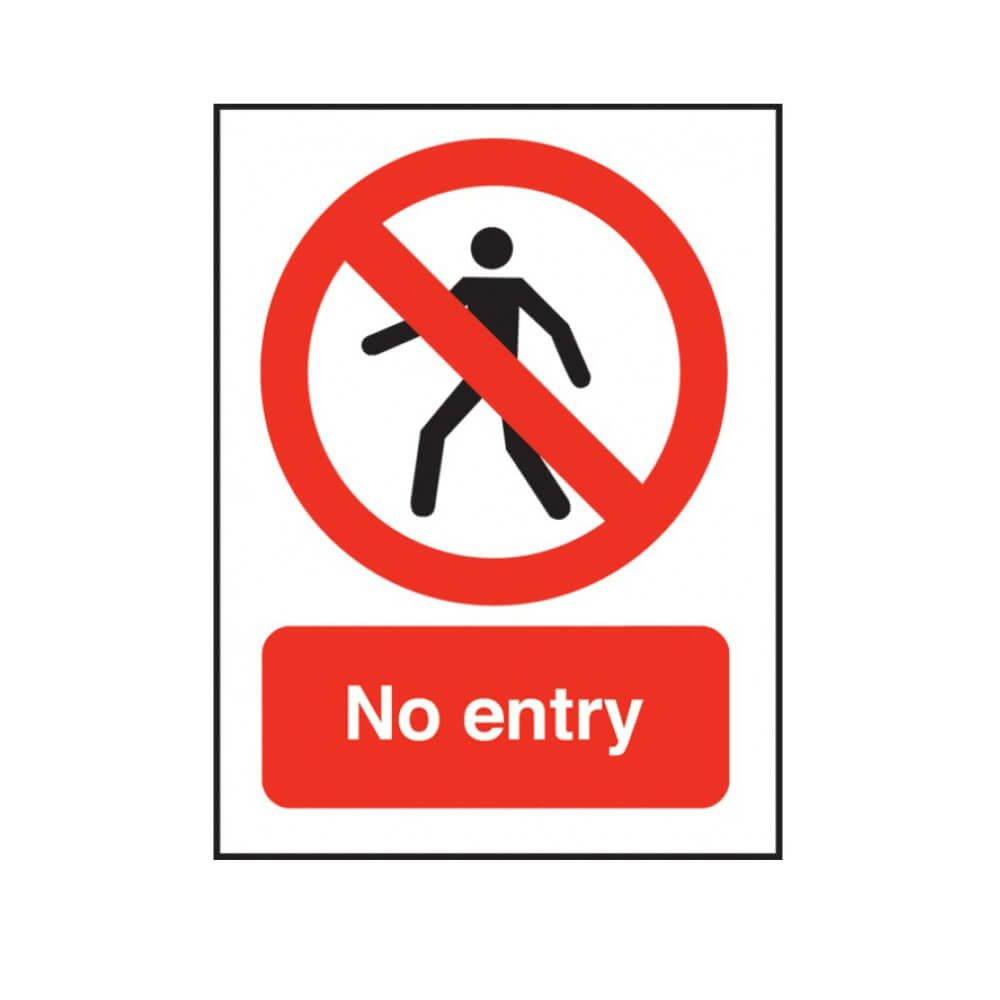 No Entry Sign Swimming Pool Safety Notice