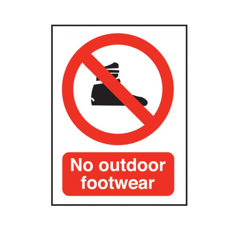 No Outdoor Footwear Swimming Pool Safety Notice