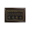 Mahogany Framed Bar Sign Draught Beer & Cider