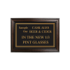 Mahogany Framed Bar Sign Cask Ales