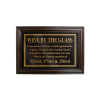 Mahogany Framed Bar Sign Wine by the Glass 125, 175, 250ml