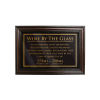 Mahogany Framed Bar Sign Wine by the Glass 175ml, 250ml