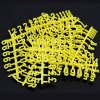 Pack of 207 Yellow 19mm Tall Pegboard Numbers