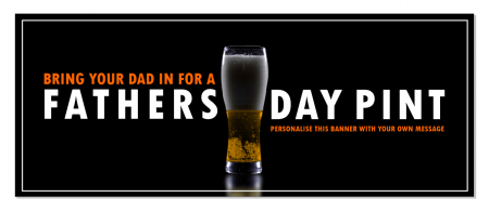 Black Fathers Day Banner