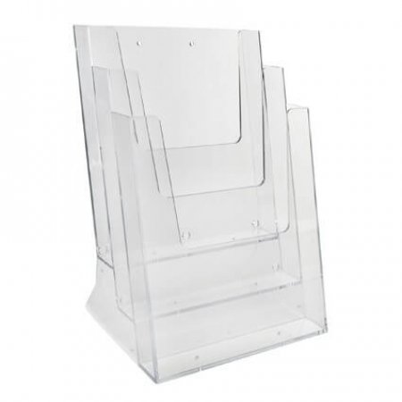 3 x A4 Tiered Leaflet Holder