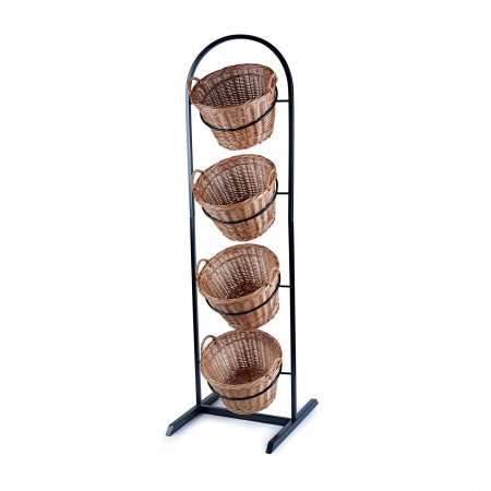 4 Tier Metal Display Stand With Round Baskets