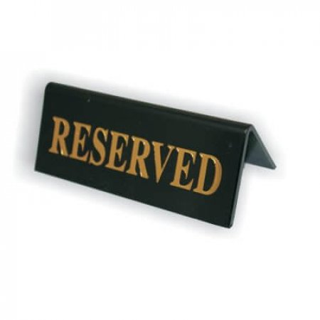 Black Acrylic Reserved Table Signs