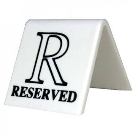 Small White Reserved Table Signs