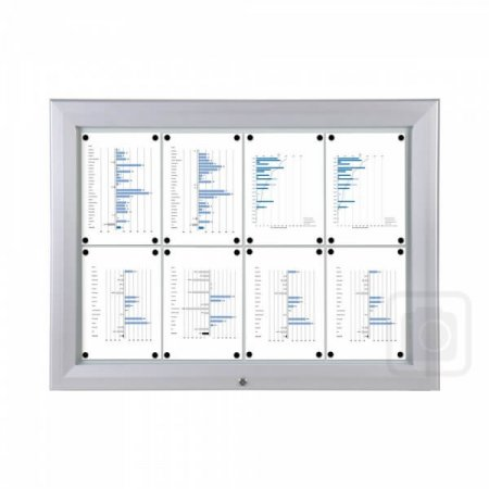 8 x A4 Premium Outdoor Lockable Notice Board