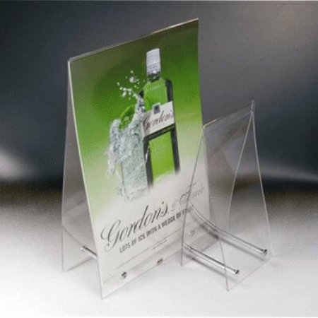 Crystal Menu and Leaflet Holder
