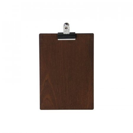 Dark Wood A5 Menu Clipboard