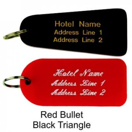 Acrylic Key Fobs Solid Colour