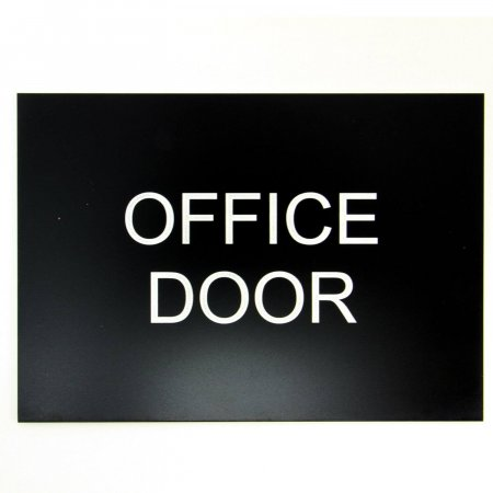 Black Sign with White Letters Engraved