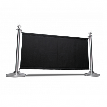 Black Canvas Cafe Barrier System
