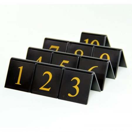 Black Table Numbers 1-10