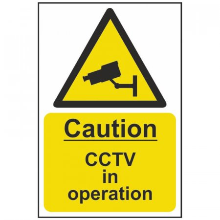 Warning CCTV in Operation Sign