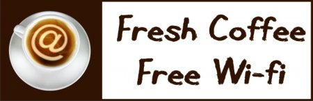 'Fresh Coffee, Free Wifi' Banner