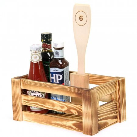 Numbered Condiment Crate Holder