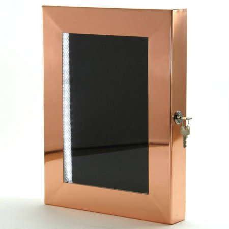 Polished Copper Menu Case with LED Illumination
