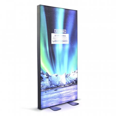 SEG Fabric Free-Standing Lightbox - Lights on