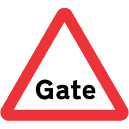 Gate Road Sign