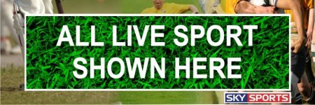 'Live Sports Here' Banner