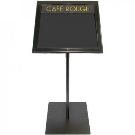 Freestanding LED Information Case with Logo
