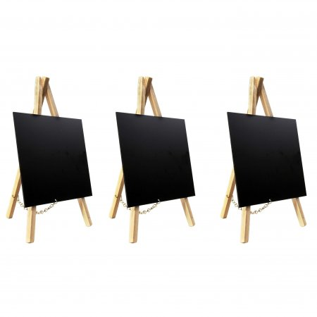 Set of 3 Beech Chalkboard Mini Easels