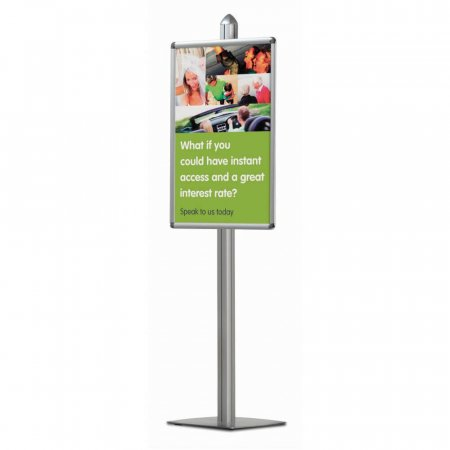 Poster Pole Display with Snap Frames