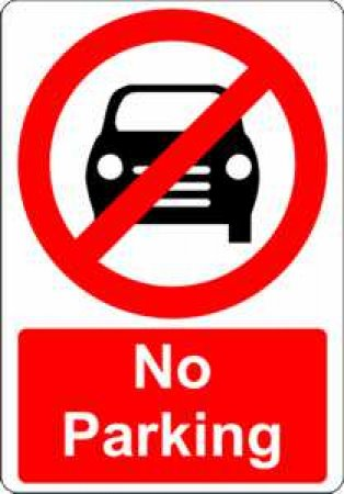 No Parking With Symbol Sign Signs