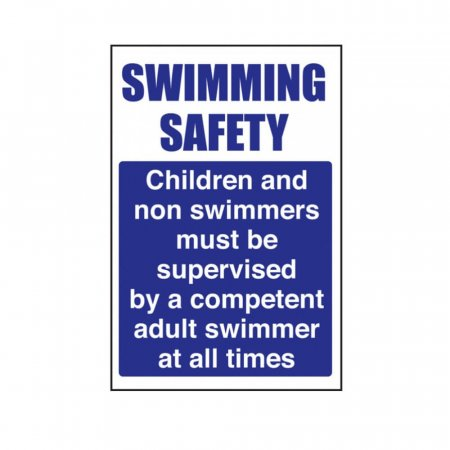 Supervise Children Swimming Pool Safety Signs