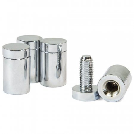 Stand Off Fixings - Polished Chrome