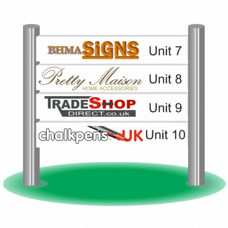 Post & Rail Sign with Digital Printing