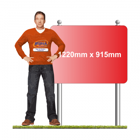 1220mm x 915mm Sign with TwinPost