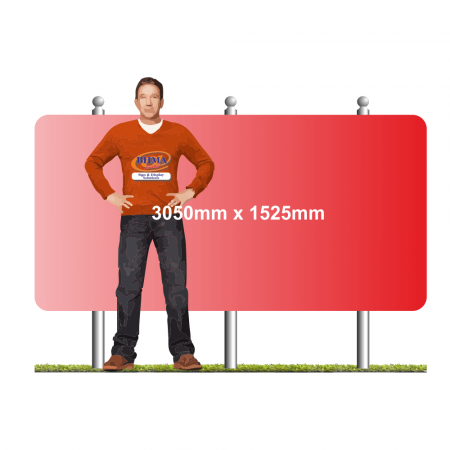 3050mm x 1525mm wide format sign on 2 posts