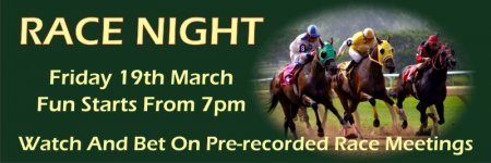 'Race Night' Banner