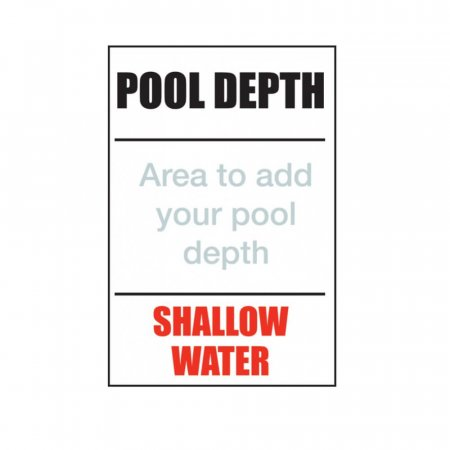Pool Depth - Shallow Water Sign