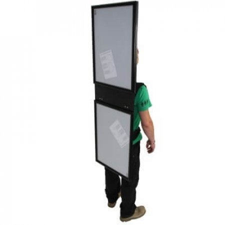 Side View Of Ad Walker With A2 Poster Holder