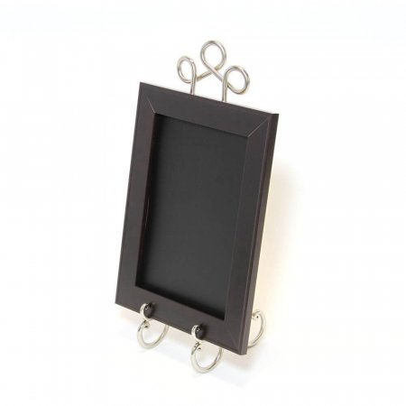 Medium Silver Nickel Easel with chalkboard