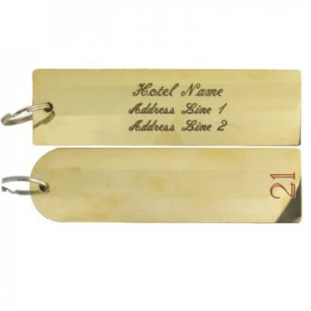 Solid Brass Engraved Key Fob