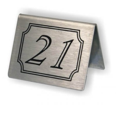 Stainless Steel Double Sided Table Numbers Tents