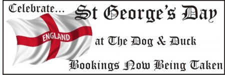 St Georges Day Flag Banner