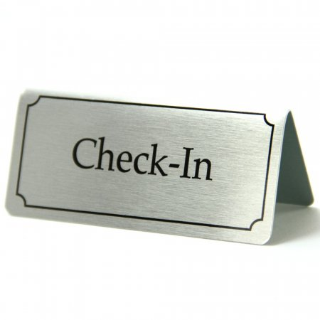 Aluminium Check In Sign