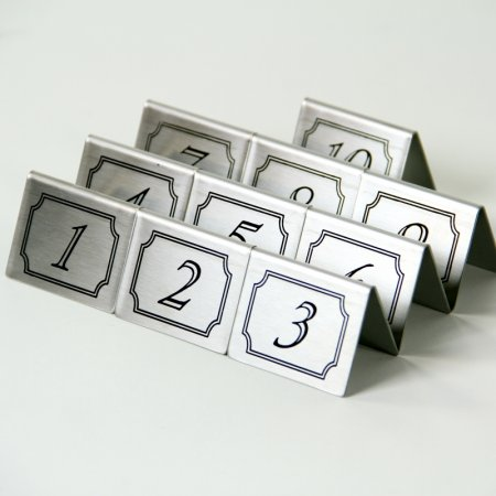 Stainless Steel Table Numbers 1-10