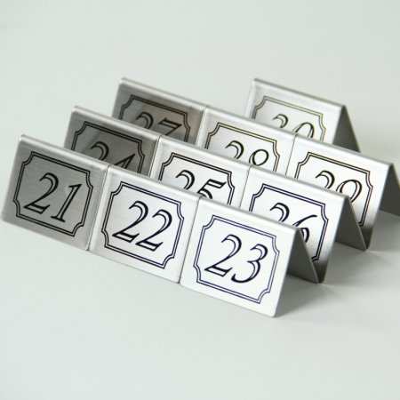 Double Sided Stainless Steel Tents Numbers 21-30