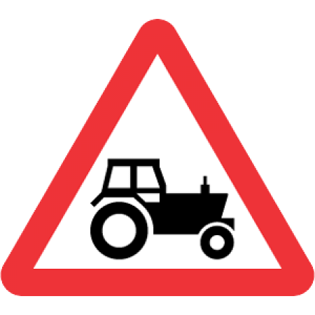 Agricultural Machinery (Tractor) Road Sign