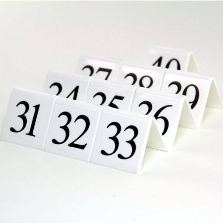 White Table Numbers 31-40